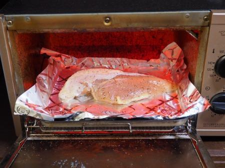 鶏むね肉のガーリック酒塩焼き047