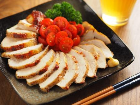鶏むね肉のガーリック酒塩焼き025