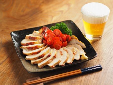 鶏むね肉のガーリック酒塩焼き005