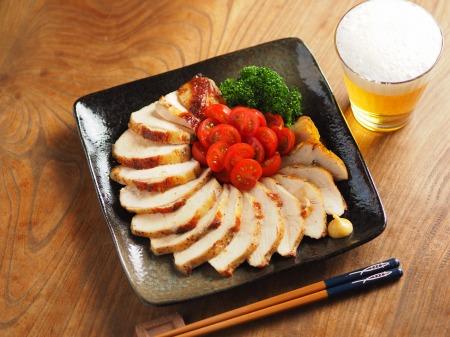 鶏むね肉のガーリック酒塩焼き008