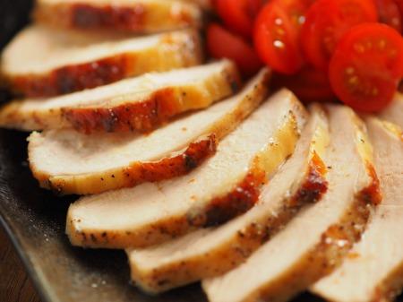 鶏むね肉のガーリック酒塩焼き021