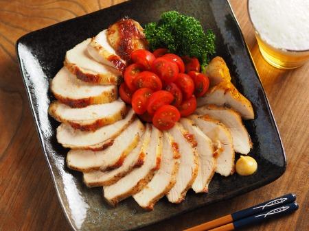鶏むね肉のガーリック酒塩焼き010