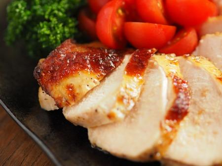 鶏むね肉のガーリック酒塩焼き032