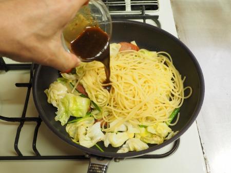 ウインナーとキャベツのスパゲテ039