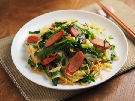 ウインナーとキャベツのスパゲテ005