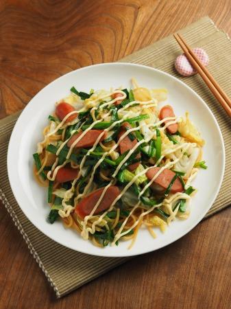 ウインナーとキャベツのスパゲテ018