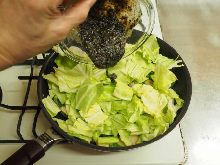 鶏むね肉の黒ごま回鍋肉066