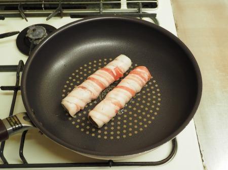 ごぼうの豚ばら巻き、煮奴066