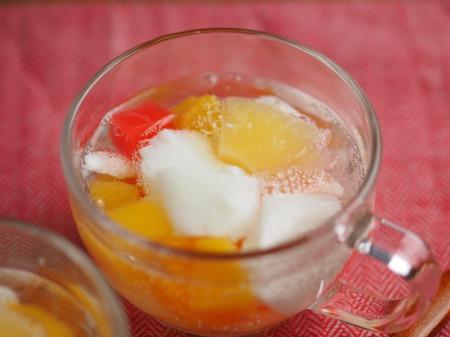 牛乳わらび餅のフルーツポンチ032