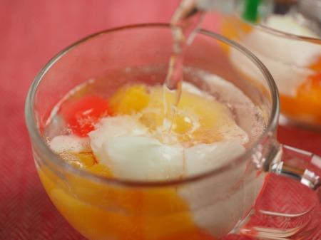牛乳わらび餅のフルーツポンチ022