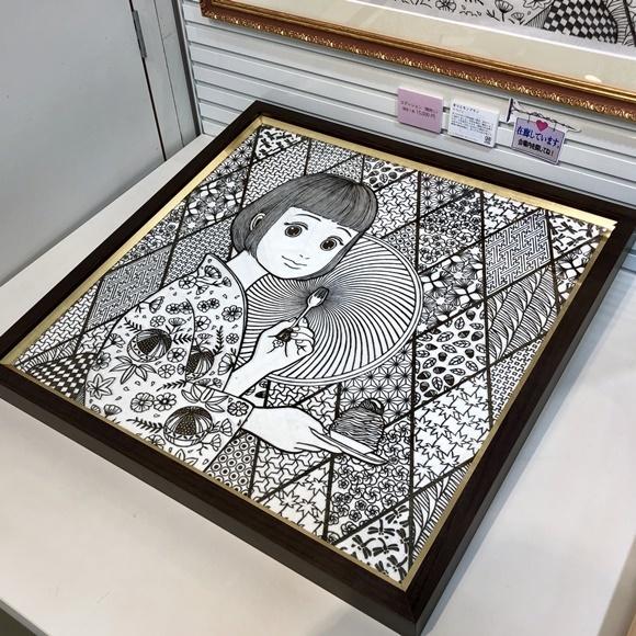 第8回けしごむ・はんこ・てん大サイズ作品《まりとモンブラン》 原版