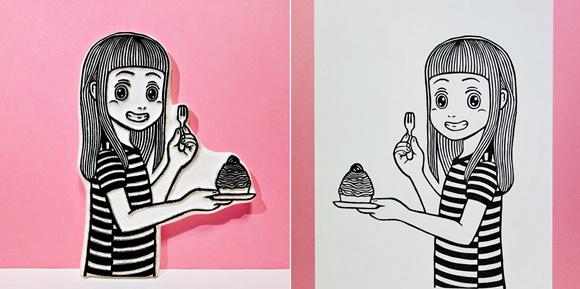 まりのモンブラン 版画と原版