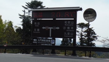 高野山は208℃