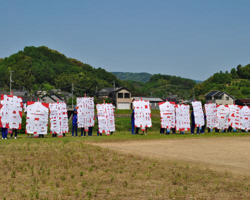 中学生の凧