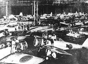 中島飛行機、隼戦闘機の組立工場
