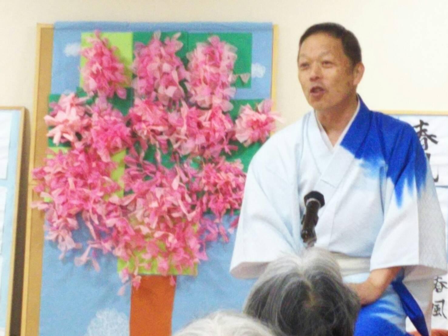 1着物と桜飾り