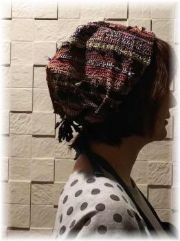 裂き織りの帽子2