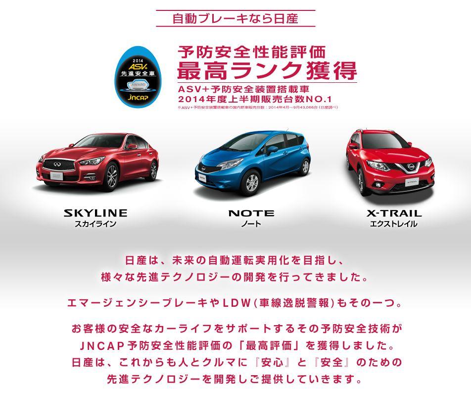 日産 初売り 2015 自動ブレーキ2
