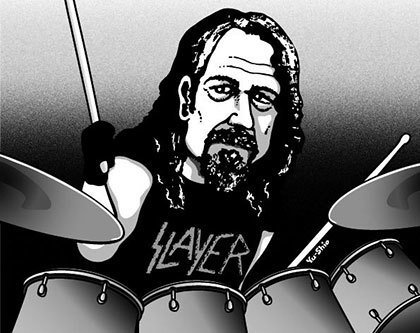 Paul Bostaph Slayer caricature likeness