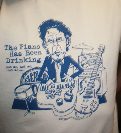 Tom Waits T Shirt caricature