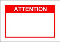 Attentionの張り紙テンプレート・フォーマット・雛形