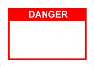 DANGERの張り紙Template・フォーマット・雛形