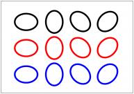 楕円形のテンプレート・図形・絵