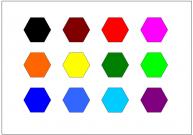 六角形のテンプレート・図形・絵