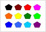 五角形のテンプレート・図形・絵