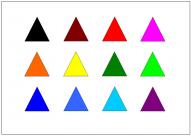 二等辺三角形のテンプレート・図形・絵