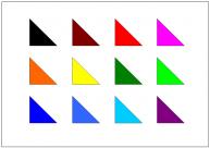 直角三角形のテンプレート・図形・絵