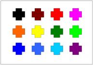 十字形のテンプレート・図形・絵