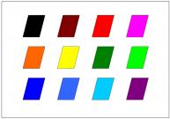平行四辺形のテンプレート・図形・絵
