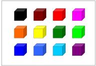 直方体のテンプレート・図形・絵
