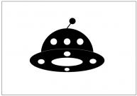 UFOのテンプレート・図形・絵