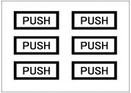 PUSHのドアプレートテンプレート・フォーマット・雛形