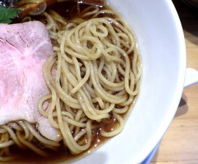 本町製麺所 阿倍野卸売工場 中華そば工房 中華そば(麺のアップ)