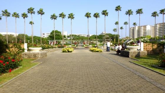 長居公園植物園 バラ園の入口(2017年5月撮影)