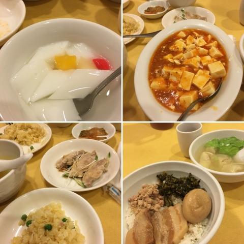ルーロー飯と炒飯と麻婆豆腐ランチ