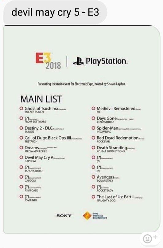 E3 2018ソニーカンファ