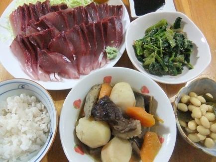刺身、煮物、煮豆、浸し
