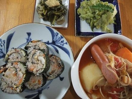 巻きばら寿司、ポトフ等