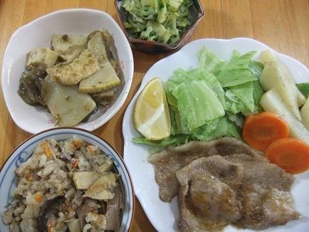 生姜焼き、筍三昧