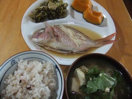 煮魚、南瓜煮、汁