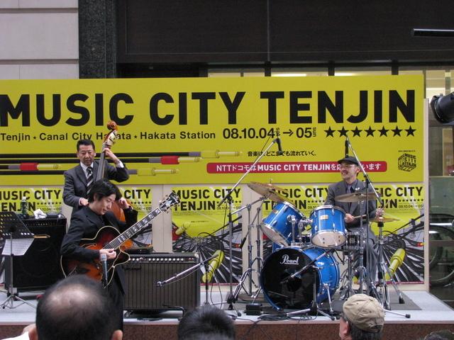 2008年10月5日 Music City Tenjin :ミュージックシティ天神:柳武史雄カルテット:柳武史雄:井上裕章:SAKU:中村健.