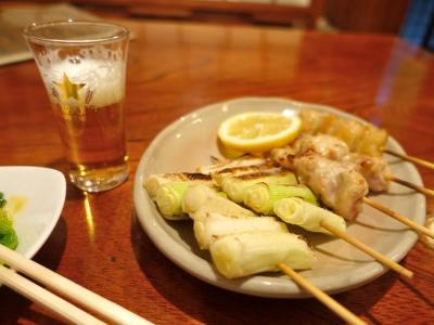 石川町の居酒屋にて夕食