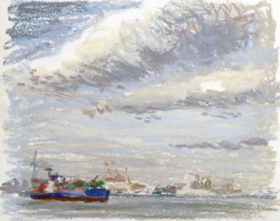 東京湾をゆく船-28