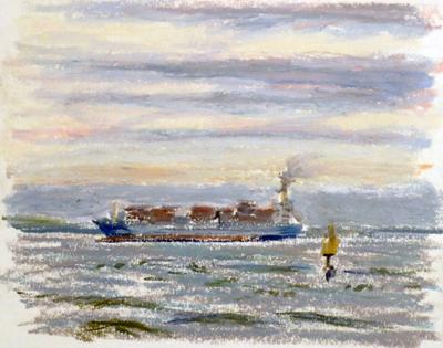 東京湾をゆく船-29