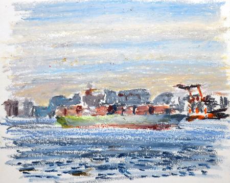 東京湾をゆく船-30