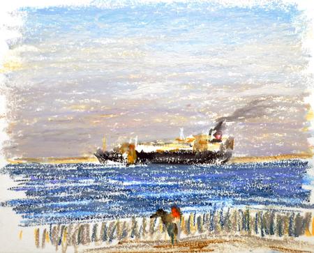 東京湾をゆく船-31